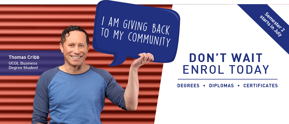 Find out how UCOL Business student Thomas Cribb is giving back to his community.