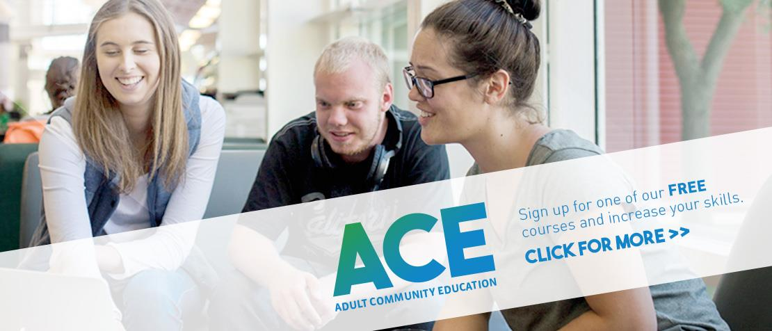 Adult Community Education promotional banner
