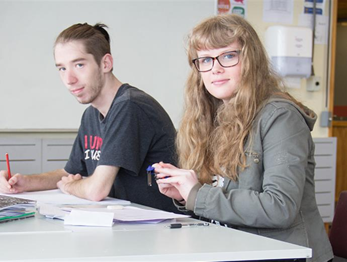 Study skills students in class at the Palmerston North campus